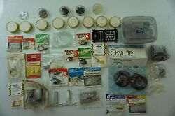 Large Vintage Model Airplane Builders Wheels Hardware PARTS LOT RC Free Ship