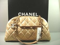 Chanel Dark Gold Quilted Leather