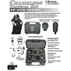 Earphone Connection CHAMELEON Tactical Kit for Harris  Macom MRK 2-Way Radios