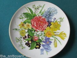 Hutschenreuther Germany Collector Plate Fruhlingsmorgen, Floral, Nib, 7 3/4[a4