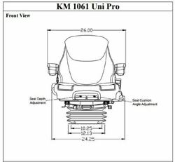Km 1061 Uni Pro Seat And Suspension Seat Wheel Loaders Made To Fit John Deere