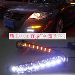 Super Bright Daytime Running Lights Drl For Vw Passat Cc 11 Replace Turn Signal
