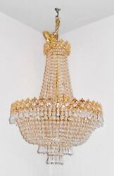 Vintage Lumiare French Revival 10 Bulb Chandelier With 1615 Hanging Crystals