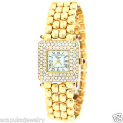 Chopard Swiss Made 18K Yellow & White Gold Ladies Diamond Watch