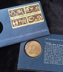 1972 Bicentennial Commemorative Medal - George Washington Coin - Department Of