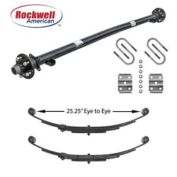 3500 Lb Idler Trailer Axle W/springs And Ubolts - 61 Hf-46 Sc 545 Idler Axle