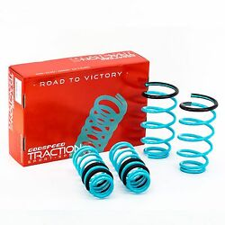 Godspeed Traction-S Lowering Springs Set for Sentra 00-06 B15 Powder Coated