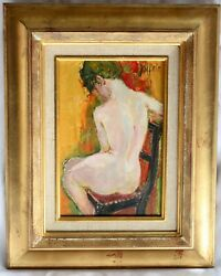 Magnificent 19c French O/c Nude Painting By Joffrin Guily Listed Artist