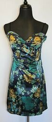 GUESS Designer Sexy Spaghetti Strap Floral DRESS SZ 9 NWT MSRP $89