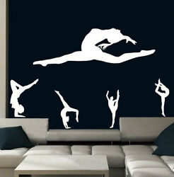 Set Of Gymnastics Beautiful Decals. Durable Stickers Decor. Many Colours. New Uk