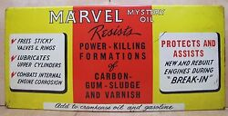 Old Marvel Mystery Oil Store Display Rack Tin Adv Sign Gas Station Repair Shop