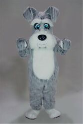 Grey Terrier Mascot Costume