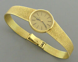 Vintage Omega 18k Yellow Gold Ladies Watch Wind 711.2071 Superb Condition 32.9g