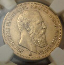 1888 A Gold German State Prussia 20 Mark Friedrich Iii Coin Ngc Xf 45