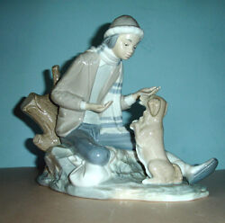 Lladro Nao Lesson For The Dog 140 Boy Figurine Hand Painted