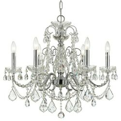 Crystorama Imperial Brass Crystal Chandelier Crystal Crystal 3226-ch-cl-s