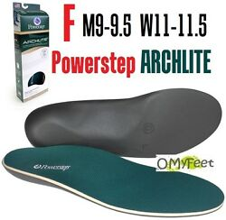 Powerstep Archlite Full Length Cushioned Shoe Insoles Size F M 9-9.5 W 11-11.5