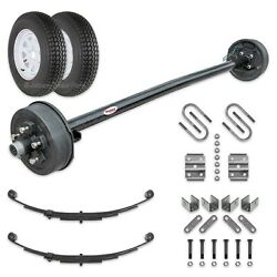 3500 Lb Electric Brake Trailer Axle Kit W/wheels And Tires 95 Hf - 80 Sc 545