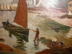 Antique Impressionist Oil Painting Listed Artist Edward Howell Pa 1848-1924