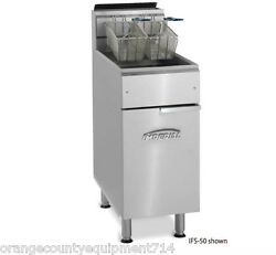New 50 Lb Electric Deep Fryer Stainless Steel Pot Imperial Ifs-50e 4567 Floor