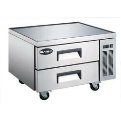 New 36 2 Drawer Nsf Refrigerated Chef Base Saba Scb-36 4460 Equipment Stand