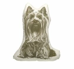 NEW AREAWARE FAUNA CUSHION SMALL ANIMAL PILLOW ORGANIC COTTON YORKSHIRE TERRIER
