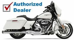 Bassani Chrome Road Rage 2 Into 1 Exhaust Pipe 4 Megaphone 2017 Harley Touring