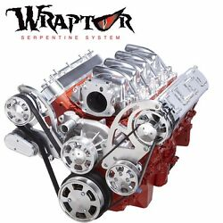 Polished Chevy Ls Serpentine Kit Alternator And Power Steering - Ls1 Ls2 Ls3 And Ls6