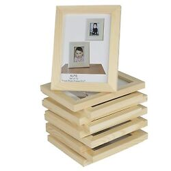 Fasthomegoods Set Of 10 Unfinished Solid Wood Photo Picture Frames 5x7 Inch Gift