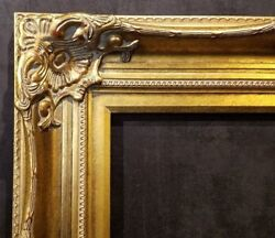 5 Wide Antique Gold Leaf Ornate Photo Oil Painting Wood Picture Frame 801g