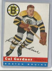 1954-55 Topps Hockey Cal Gardner Card 47 Excellent Condition