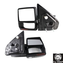 Fit For Ford F-150 Lh And Rh Set Of 2 Chrome Door Mirror 9l3z17683ec New