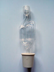 1 S-shape Airlock With 1 Buon Vino Stoppers / Bungs - Small