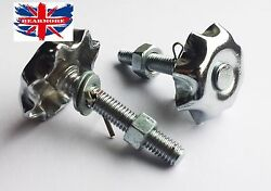 Side Tool Box Chrome Flower Screws Nuts Washer Pair For Royal Enfield Early