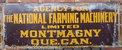 Antique National Farming Machinery Lmtd Sign Metal Farm Equpment Feed Seed Store