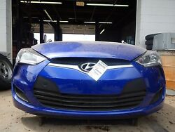 2014 Hyundai Veloster Base Model Front End Assembly Clip Nose And03928and039 Actual Miles