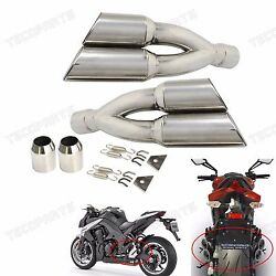 Universal L&R 38-51MM Dual Exhaust Muffler Vent Pipe Slip On Motorcycle Scooter