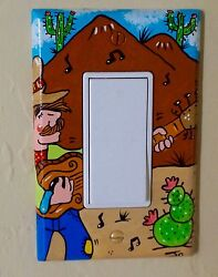 Home decor Light Switch plates & Outlet CoversCowboysDesertCacti