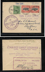 Tonga 38,392 On Tin Can Mail Cover With Quensell Signature     Ms0913