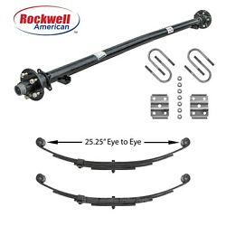 3500 Lb Idler Trailer Axle W/springs And Ubolts - 84 Hf-70 Sc 545 Idler Axle