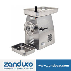Omcan Commercial 32 Italian Stainless Steel Meat Grinder With 3 Hp Mg-it-0032-c