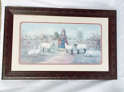 Glynda Turley Sheep/geese-garden Gate-1988-signed And Number 3969/5000