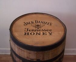 Jack Daniels Branded And Engraved Tn Honey Whiskey Barrel-free Shipping