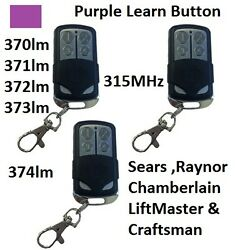 New Comp 371lm Liftmaster Sears Chamberlain Remote 373lm 370lm Usa Seller 3pk