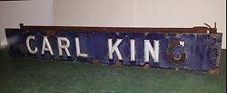 Antique 1927 Double Sided Ford Dealer Sign Carl King Ballston Spa Ny Saratoga Co