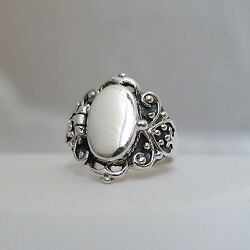 Victorian Scroll Poison Ring - 925 Sterling Silver Sizes 6-10 Pillbox Ring New