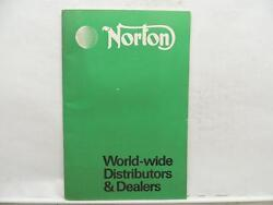 Norton World Wide Distributors And Dealers Motorcycle Book Catalog List L9536
