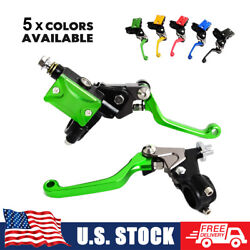 For Kawasaki Hydraulic Brake Cable Clutch Levers Assembly Dirt Bikes Mx Enduro