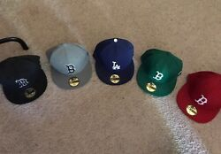 5 Authentic Never Worn New Era 59fifty Caps Purchased Directly From Lids