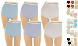 Breezies~Set of 5~Cotton Womens Briefs Panties~A22767~Choice of Sizes